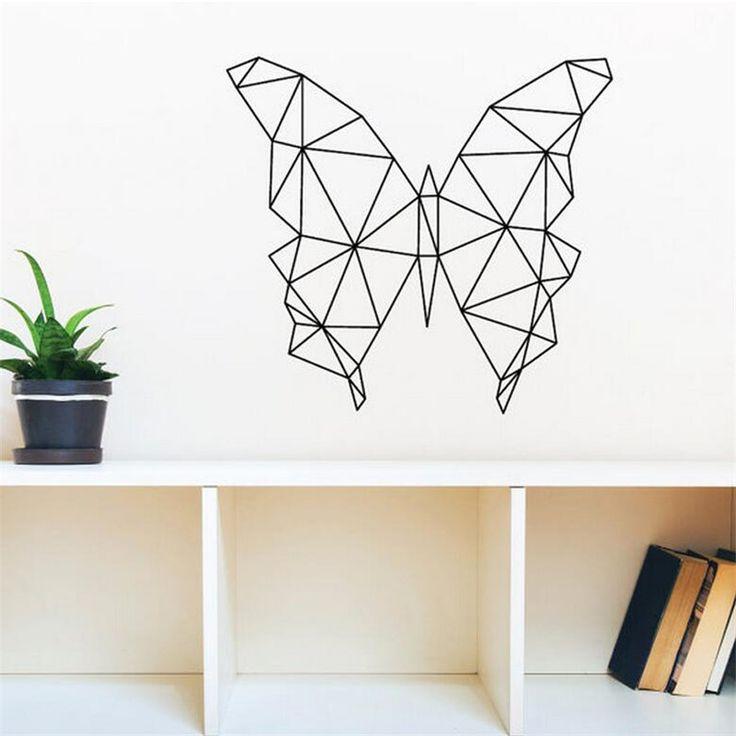 2016 Nouveau Design Géométrique Papillon Wall Sticker Géométrie Animal Série…