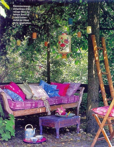 Hippie garden  Dreamy Gardens  Pinterest  Gardens, Lanterns and