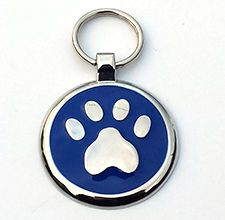large blue paw #Pet_Tags