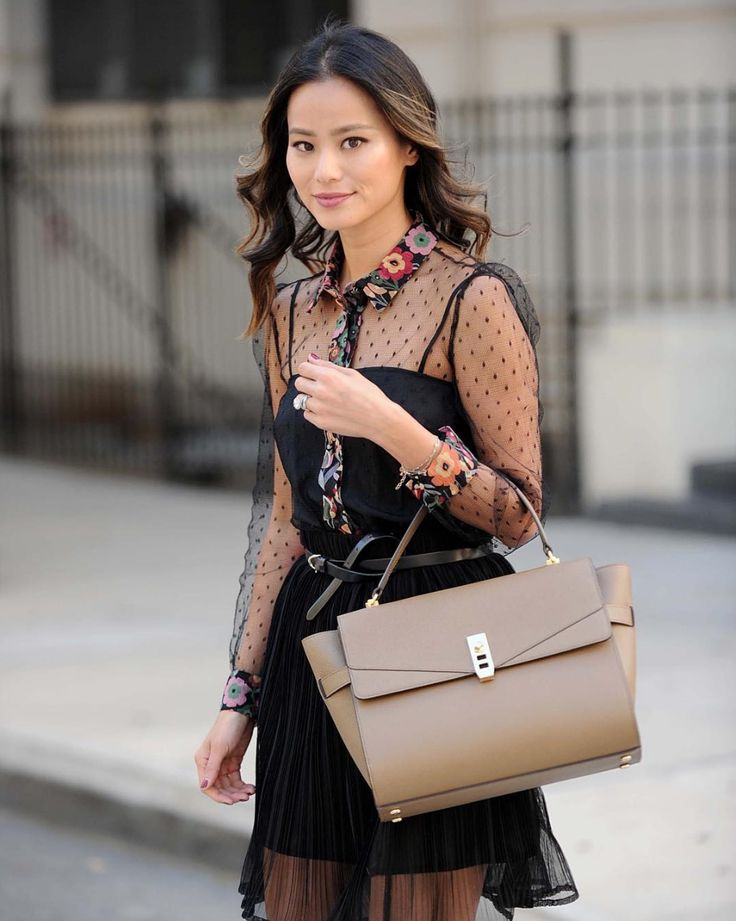 Jamie Chung styles our perfect-for-fall Uptown Satchel out in NYC.
