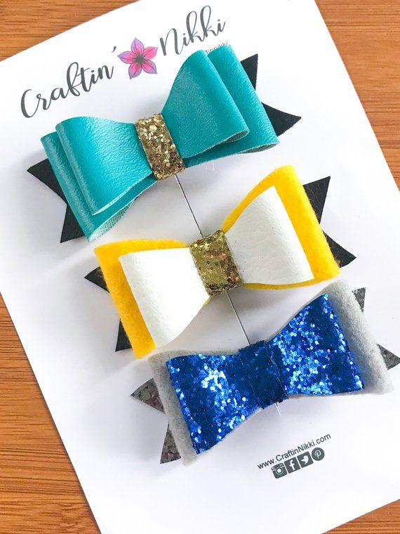 """Fabric Glitter 4/"""" Hair bows with hairband"""
