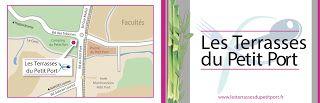 Les terrasses du Petit Port, carte de visite - Label communication