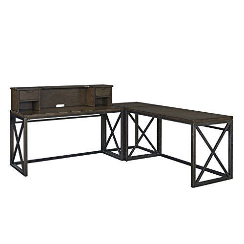Simplicity and function, in a contemporary designed work area. Delivered to your door by parcel post service. Features 2 desks, with a corner table that, makes an L shaped work area, with a single hutch. Metal tube frame, in a distinctive aged copper powder coated painted finish, with raised... more details available at https://furniture.bestselleroutlets.com/home-office-furniture/home-office-furniture-sets/product-review-for-home-styles-5079-1527-xcel-home-office-ensemble/