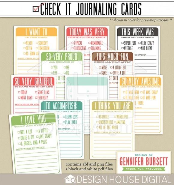 3x4 Cards from Gennifer Bursett!: Journals Prompts, Projectlif 3X4, Project Life, Journals Cards, Life 3X4, Life Printable, Projects Lifescrap, 3X4 Cards, Projects Life Cards