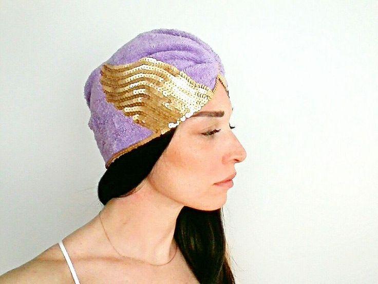 Lila Havlu Saç Bantı Türban Bone Zet.com'da 79.90 TL