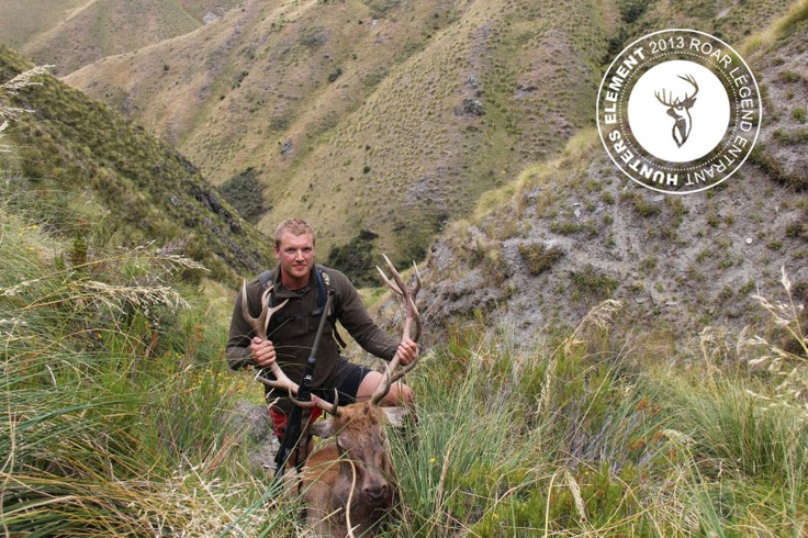 Tom Willbourne with a 13pt stag taken on DOC land near Lake Wanaka in New Zealand.