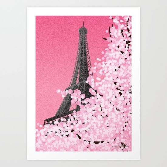 La cerise Art Print  Paris in Spring