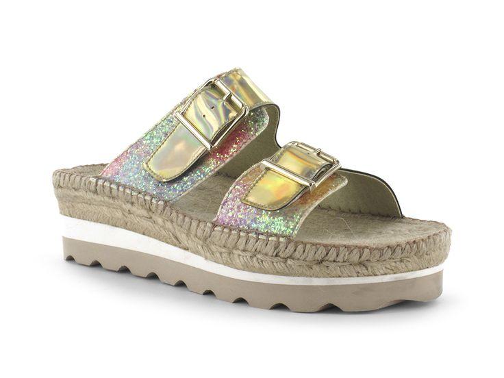 #Alpargatas #Espadrilles Modelo 1410 Delia. #Sandalias todoterreno que brillan como tú. Prepara tus pies porque llega la hora de enseñarlos.