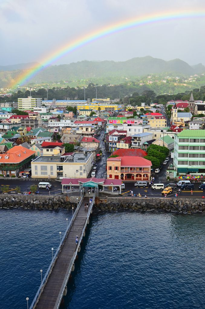 #Roseau, Dominica -=- the Commonwealth is an Island Nation in the Lesser Antilles region of the Caribbean Sea, Photograph © by Jeff Clow, Very Beautiful  ♥༻