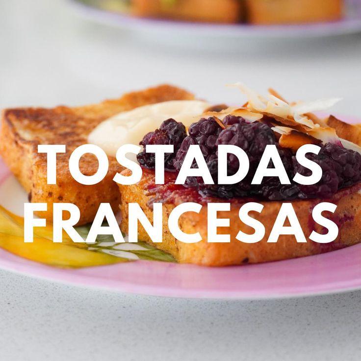 Como hacer tostadas francesas saludables, #tostadasfrancesas , french toast saludable, tostadas francesas sin lactosa, como hacer un brunch en casa, recetas con huevo, recetas con pan, recetas de desayuno saludable Easy Snacks, Healthy Snacks, Easy Meals, Healthy Recipes, Real Food Recipes, Cooking Recipes, Yummy Food, Lactose Free Diet, Brunch Party