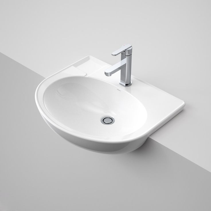Laser Semi Recessed Basin http://www.caroma.com.au/bathrooms/basins/laser/laser-semi-recessed-basin
