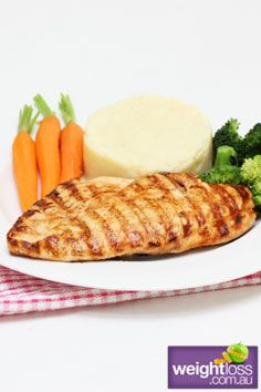 Healthy Dinner Recipes: Dijon Marinated Chicken. #HealthyRecipes #DietRecipes #WeightlossRecipes weightloss.com.au