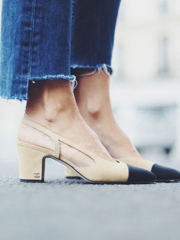 Denim Cropped to Show Off Those Chanel Shoes | Les Brèves - Tendances de Mode Clothing, Shoes & Jewelry - Women - women's jeans - http://amzn.to/2jzIjoE