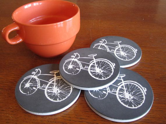A bicycle to hold your warm cup of coffee