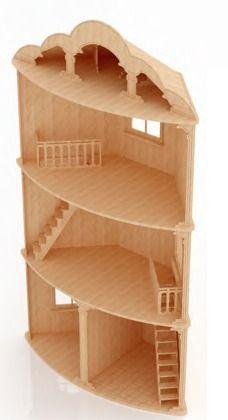 la casa de barbie en madera - Buscar con Google                                                                                                                                                      Más