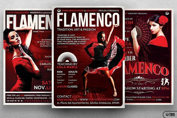 Flamenco Flyer Bundle V1 by Thats Design Store on @creativemarket