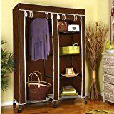Vintage Amazon Angebote Wohnw nde Faltschrank Kleiderschrank mit Platz f r H ngegarderobe Grau Quickberater