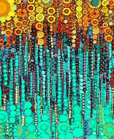 :: Party On and On :: by GaleStorm Artworks aqua teal turquoise