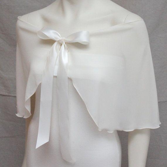 Hey, I found this really awesome Etsy listing at https://www.etsy.com/listing/177165605/ivory-chiffon-wedding-capelet-shawl