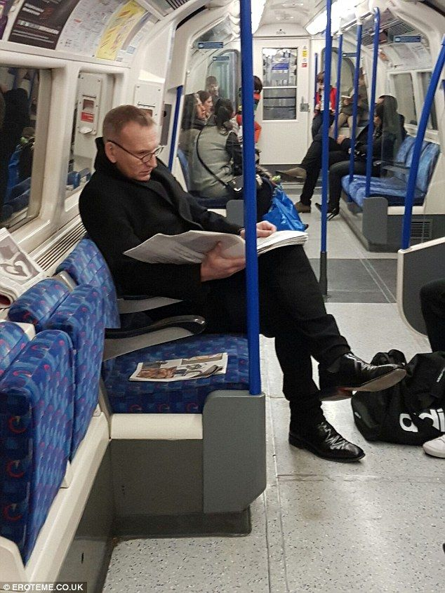 Off on an adventure: Christopher Eccleston has swapped the TARDIS for the Tube these days, with the 52-year-old star spotted on the Piccadilly line this week