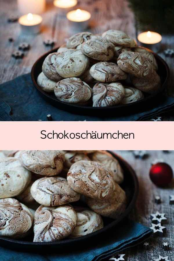Tupfen aus Baiser und Schokolade - eignen sich ideal, wenn man Eiweiß beim Backen übrig hat! | Fräulein Meer backt #schokoschäumchen #baiser #schokolade #kuvertüre