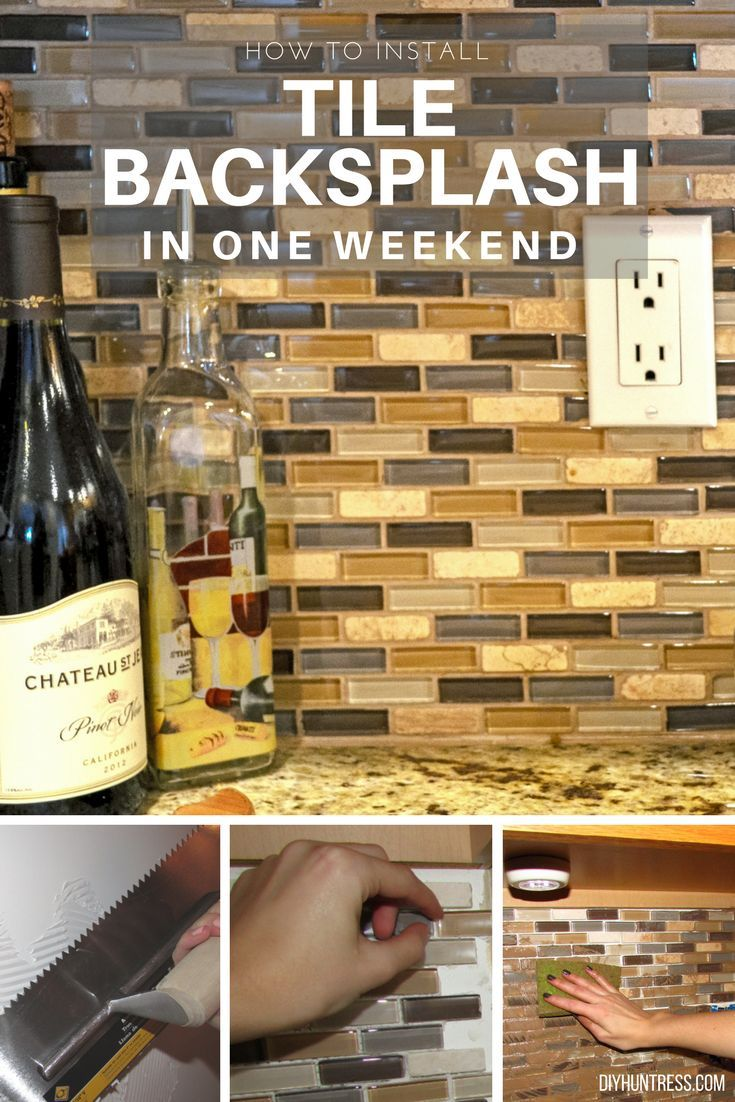 DIY Woodworking Ideas Install a new kitchen backsplash in one weekend - no power tools required!