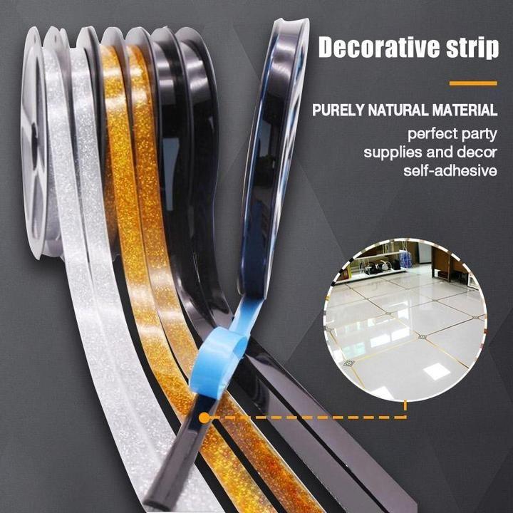 New Self Adhesive Ceramics Tile Mildewproof Edges Tape Decorative Corner Side Edges Strip In 2020 Self Adhesive Floor Tiles Ceramic Tiles Adhesive Floor Tiles