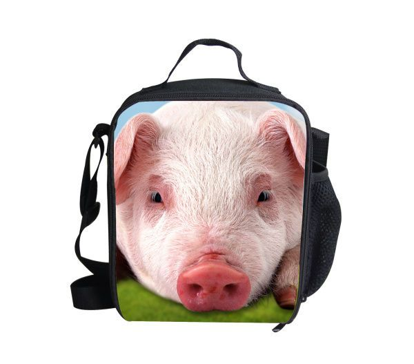 pig printing design bag animal casual cooler bag lunch for children to picnic #WHOSEPET #Animals