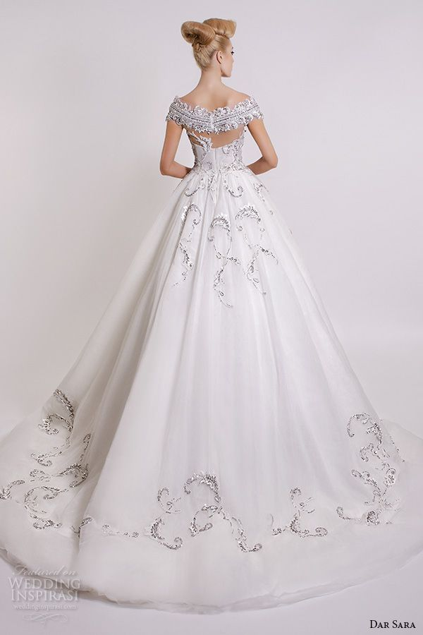 dar sara bridal 2016 wedding dresses beautiful a line ball gown off the shoulder neckline embroidered bodice back
