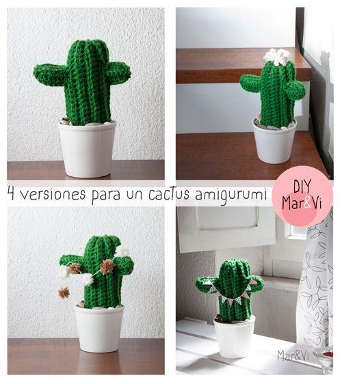 Cactus Amigurumi Patrón Gratis en Español