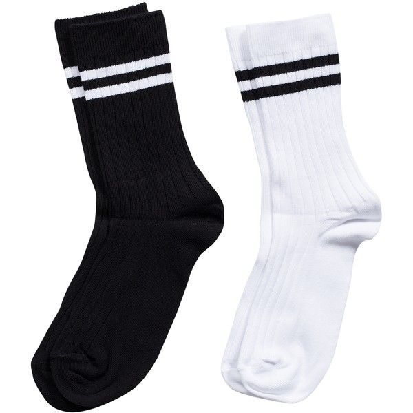Pieces Ps Derby Socks 2-Pack ($9.03) ❤ liked on Polyvore featuring intimates, hosiery, socks, accessories, shoes, fillers, bright white, underwear, womens-fashion and sport socks