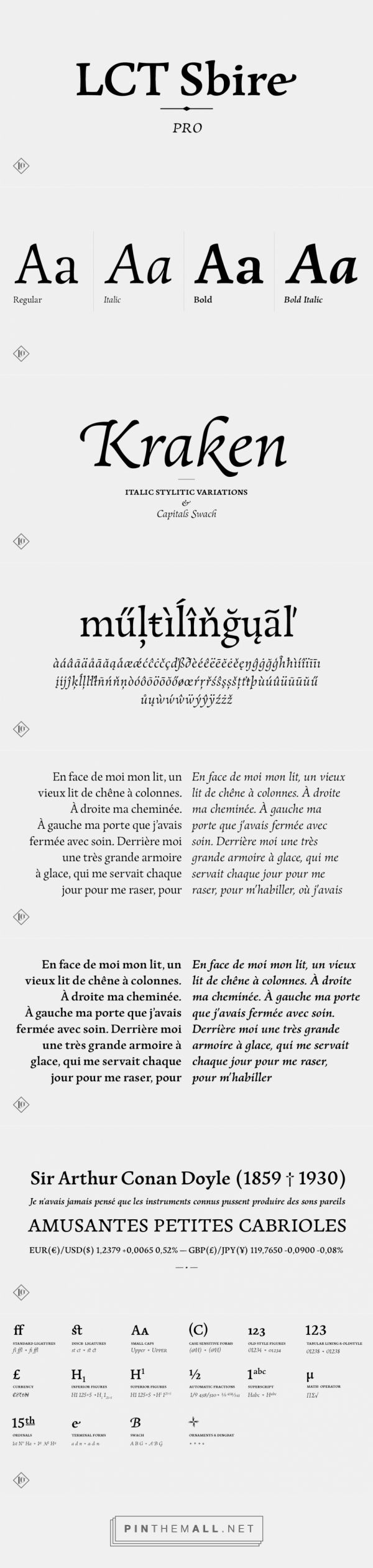 LCT Sbire Fonts by La Casse Typographique » Fontspring... - a grouped images picture - Pin Them All