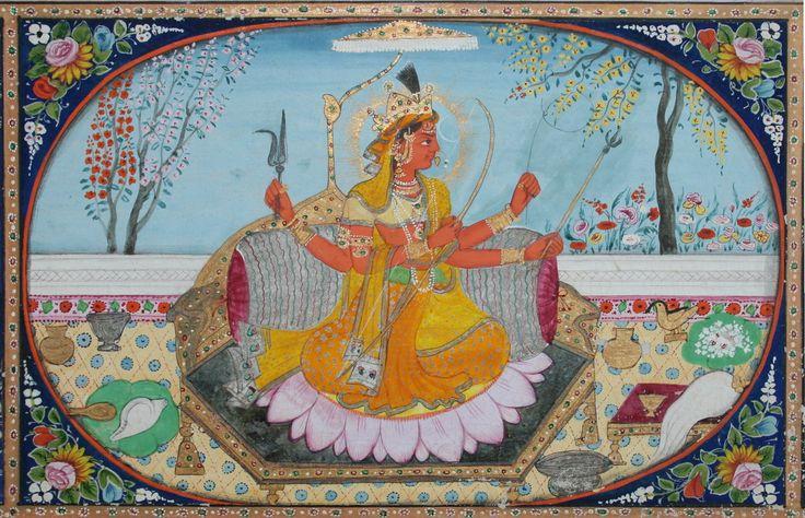 Tantric form of the Devi, Kameshvari. Kangra, circa 1860