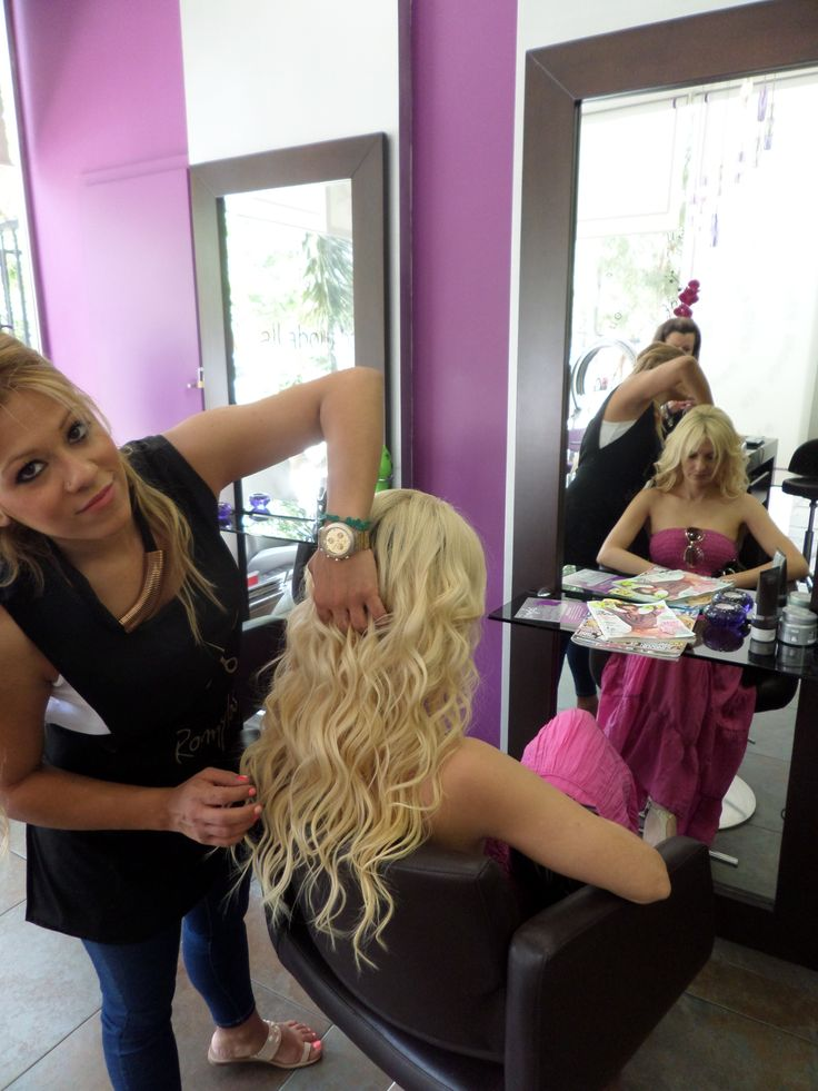 #Romylos - All About Hair #agia #paraskeui #extensions #blonde #long #wavy #hairstyles