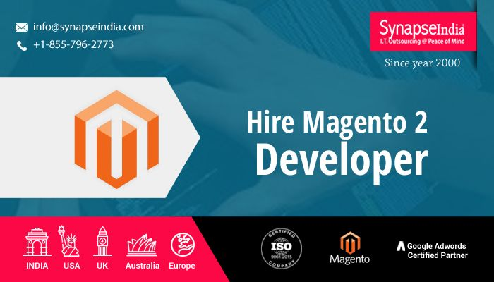 Hire Magento 2 Developer from SynapseIndia and enjoy a