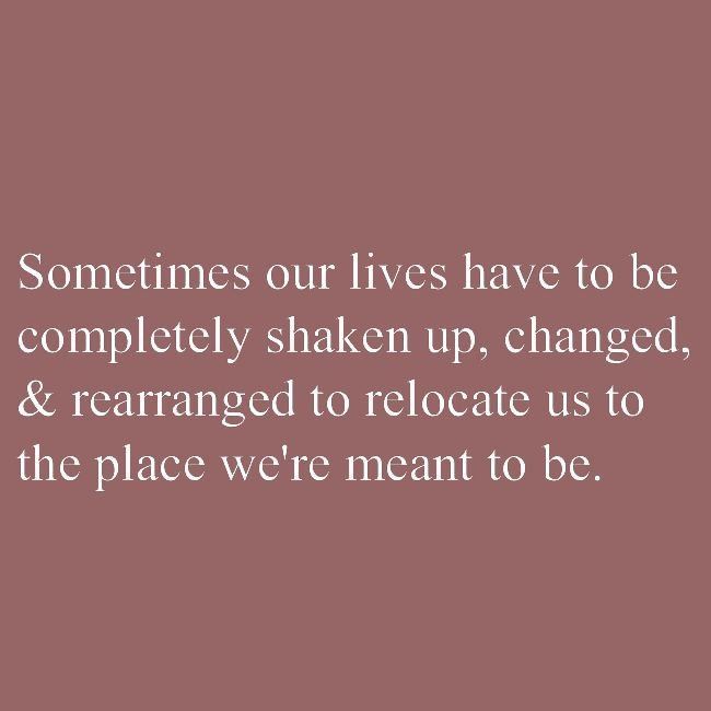 Lifehack - Sometimes our lives have to be shaken up, changed & rearranged  #Change, #Life