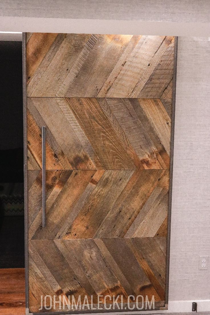 DIY Woodworking Ideas DiY Barn Wood Barn Door. Check out the full build video and blog article to buil...