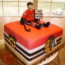 Hockey cake but in Predators colors and logo, for me please.