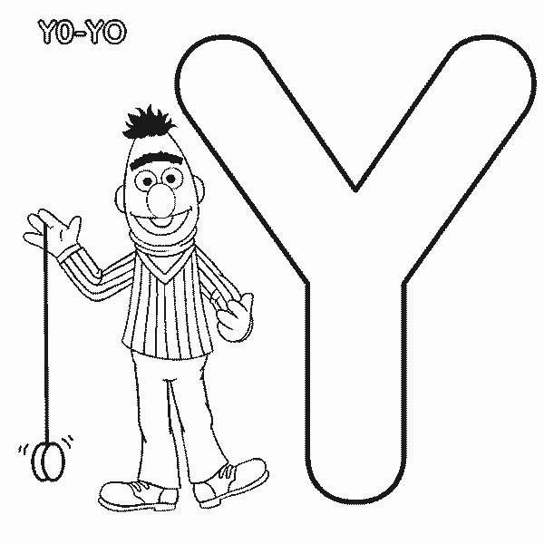 Learn Letter Y For Yo Yo In Sesame Street Coloring Page Sesame