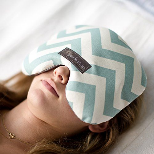 Migraine Relief Eye Pillow Masks | Remedy Your Chronic Migraines, Headaches and Sinus Problems by Perfection Collection. (Blue Chevron)