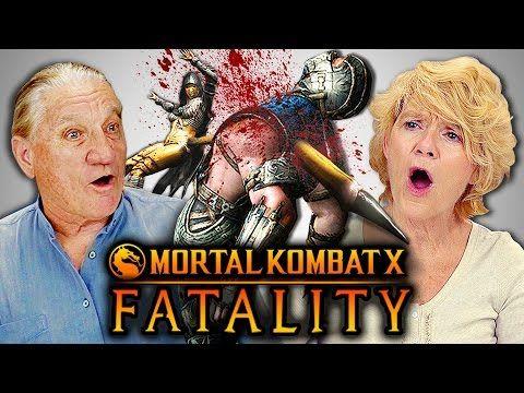 ELDERS REACT TO MORTAL KOMBAT FATALITIES (React-Mini) - YouTube
