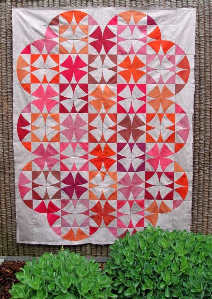 winding ways quilttop finished