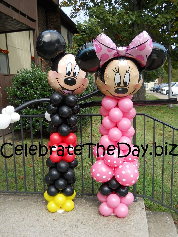Minnie and mickey party decorations photos mickey mouse for Balloon decoration minnie mouse