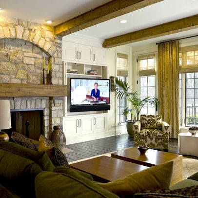 Tv Beside Fireplace Design Pictures Remodel Decor And