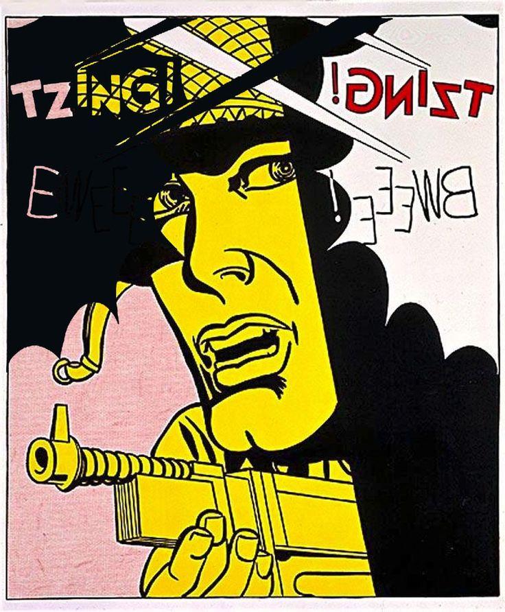 """After Roy Lichtenstein """"Live Ammo (Tzing!)"""" 1962 #7jpg  #dada #gegenwartskunst #konzeptkunst #kunst #popart #fluxus"""