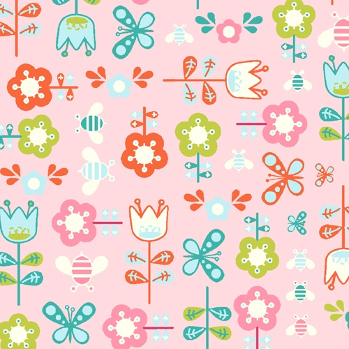 Girl Friday Floral Butterfly Pink