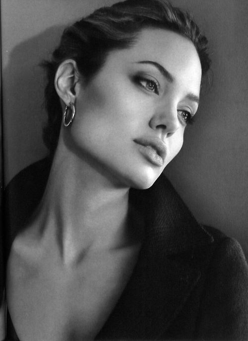 classic beauty Angelina Jolie. I respect her as a humanitarian and mother of a large multi-cultural family as well....