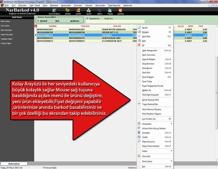 stok Takip NarBarkod Ekran Görüntüleri