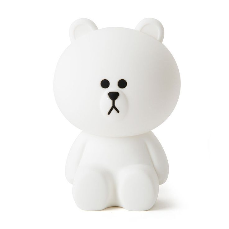 LINE FRIENDS Character LED Touch Lamp BASIC BROWN Official Goods #LINEFRIENDS