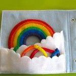 Rainbow Quiet Book Page